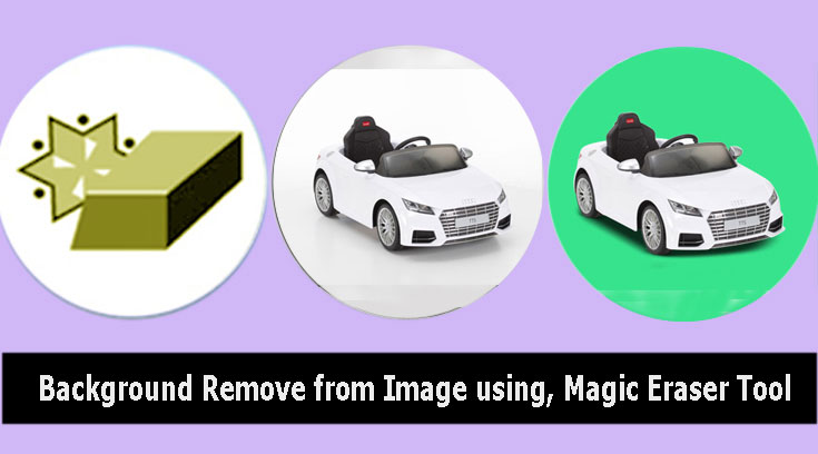 Remove image background, using the Magic Eraser Tool